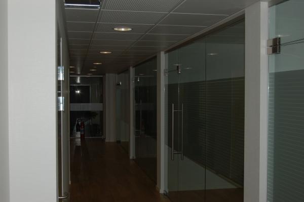 Rum opdeling med glas