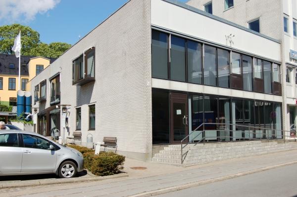 Glas facade Danske Bank Thisted